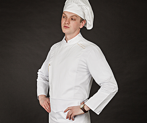 (AJ1647) edin chef jacket - white