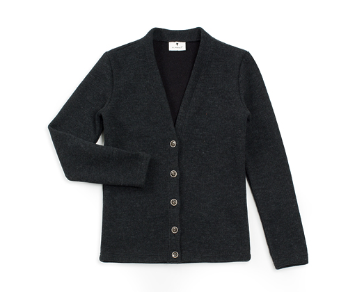 lambswool V-neck cardigan charcoal #AC1722