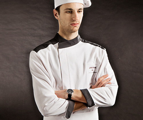 (AJ1740) the darker point chef coat