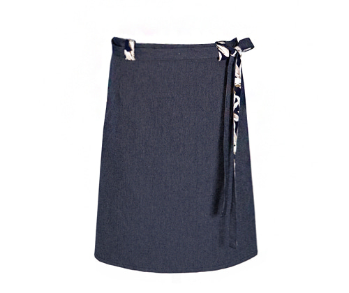 both-sided flower apron[new] #AA1767