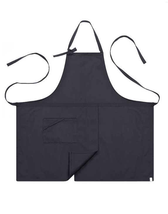 #AA1414 Basic chest Apron Gray