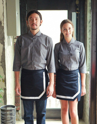 (AA1568) tom's apron - navy