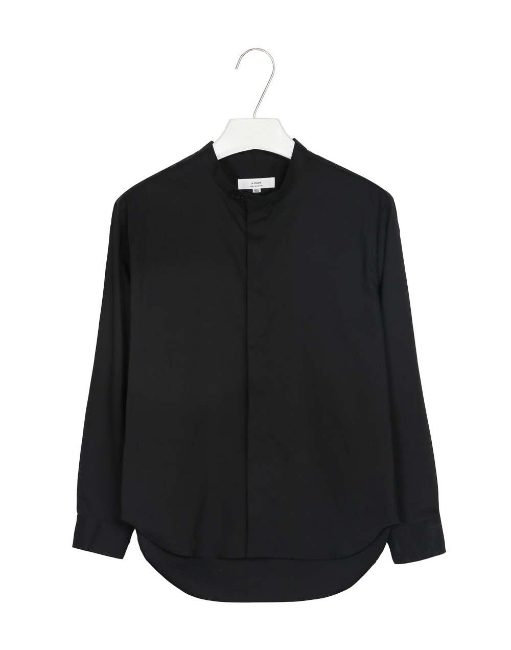 grandad collar long shirts #1900 black