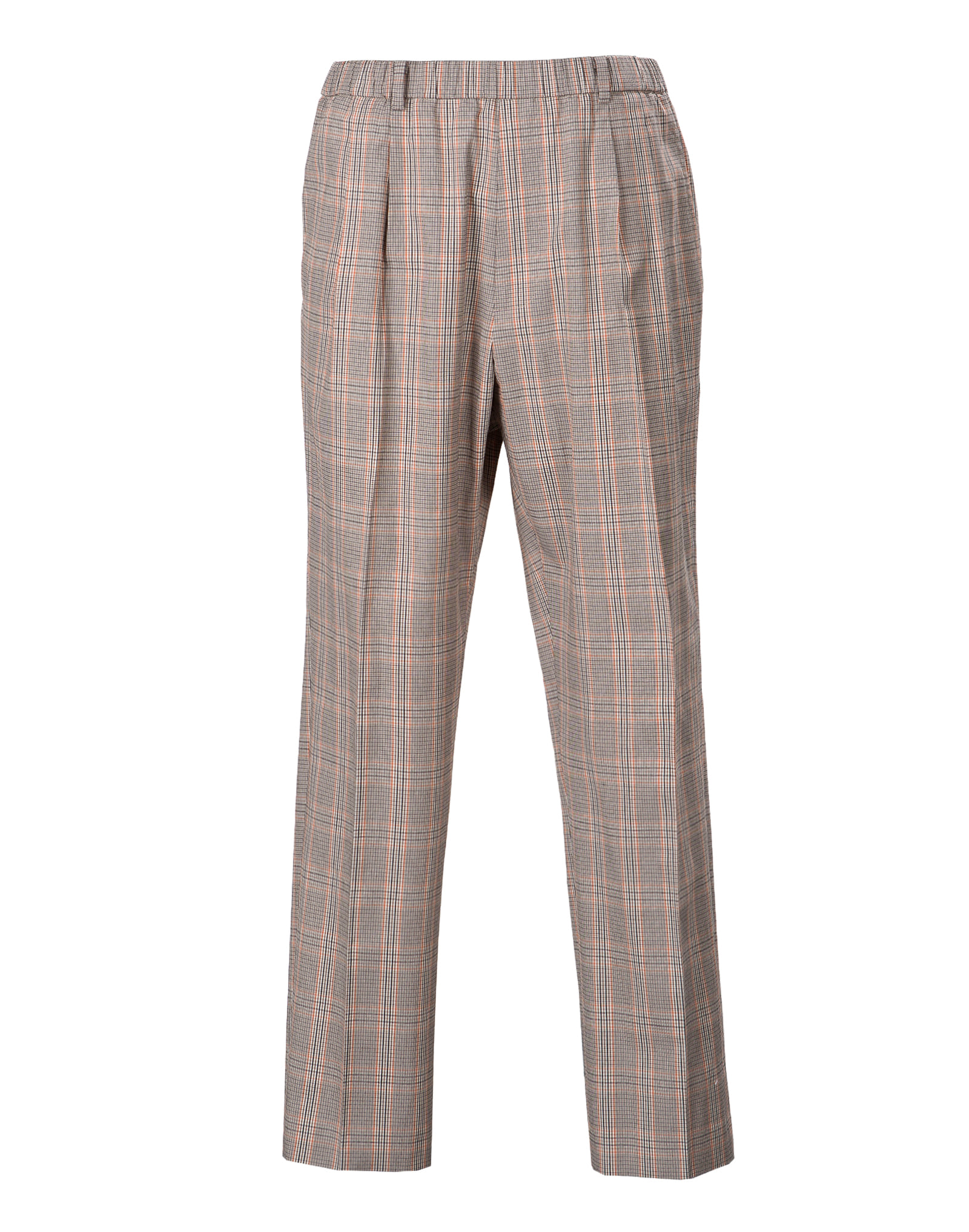 Gray & pink check Banding chef Pants #AP1907