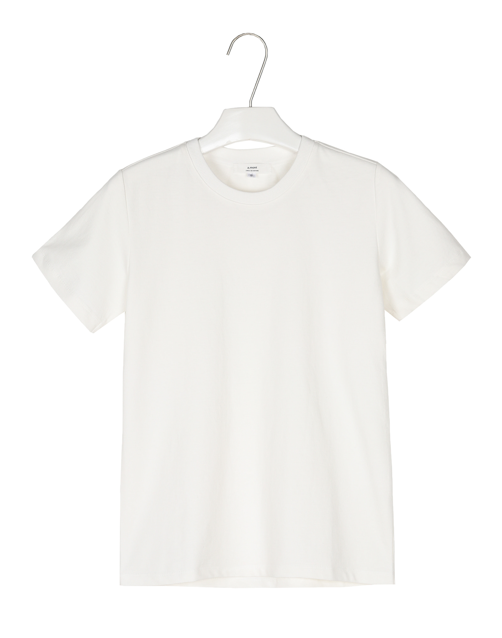 Basic cotton round 1/2tee #AT1863Ivory