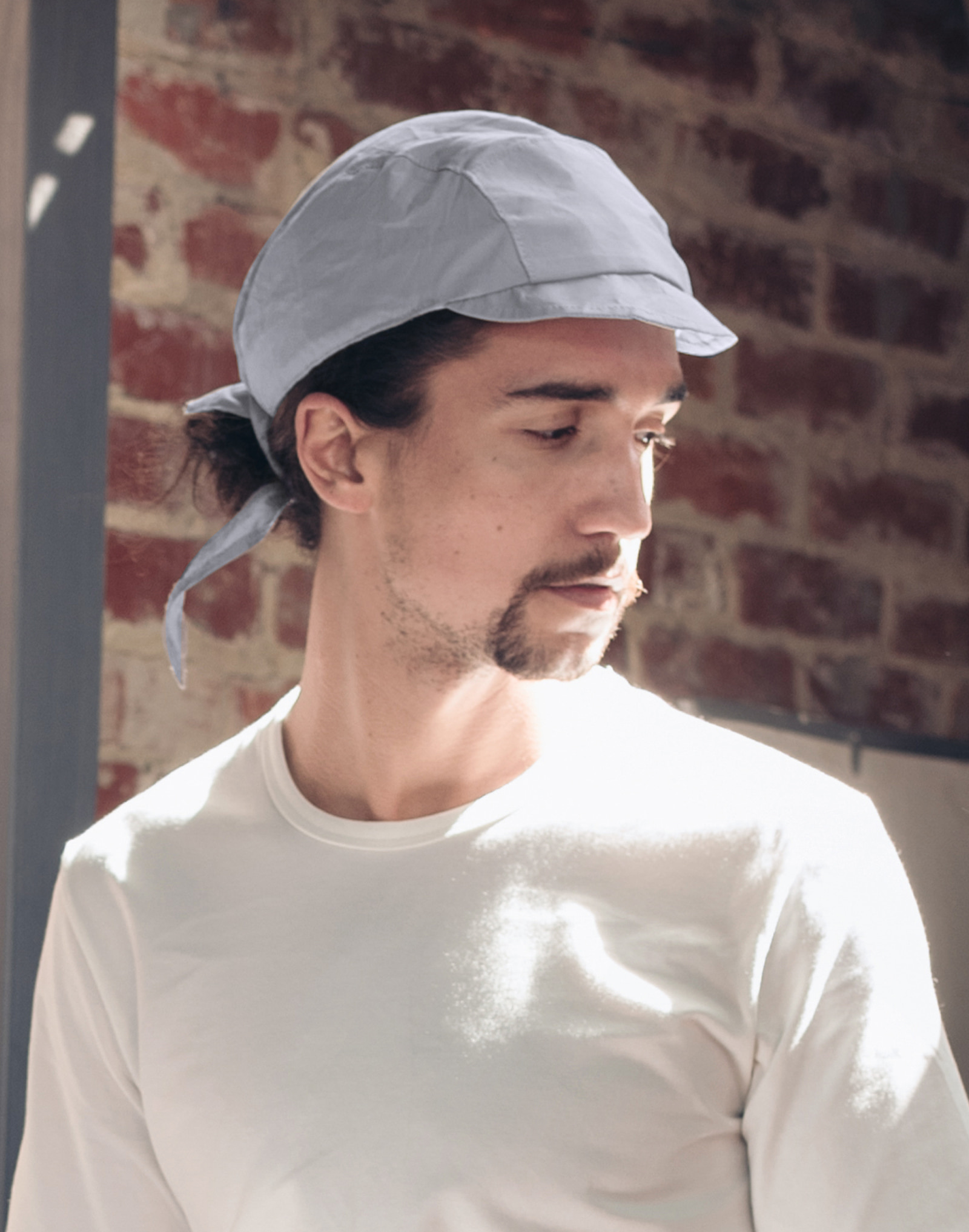 #AH1865 Thin Cotton Cap Bandana GREY