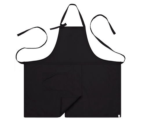 (AA1414) basic chest apron - black