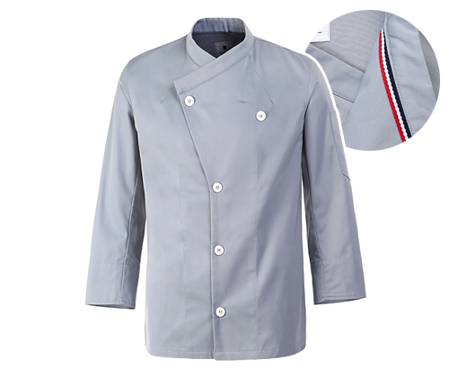 (AJ1585) parisiene chef jacket - sky blue