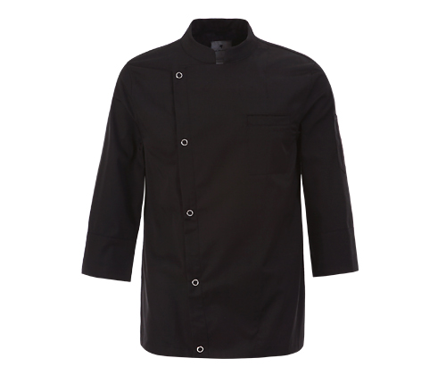 (AJ1527) basic chef jacket - black