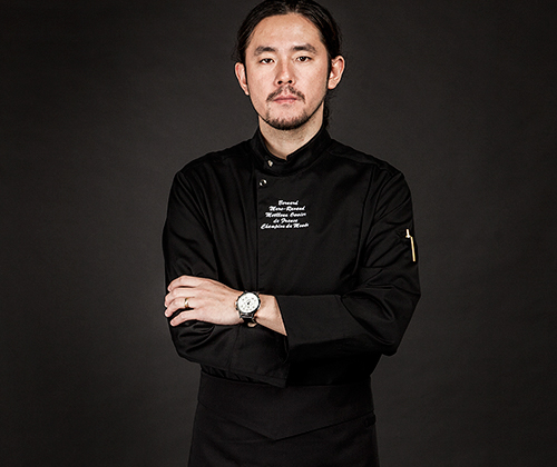 (AJ1641) the covering chef jakcet - black