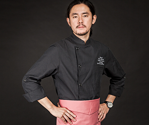 (AJ1646) british organic chef jacket - charcoal