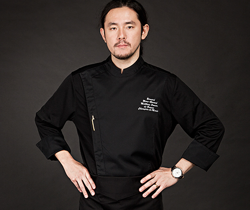 (AJ1648) edin chef jacket - black