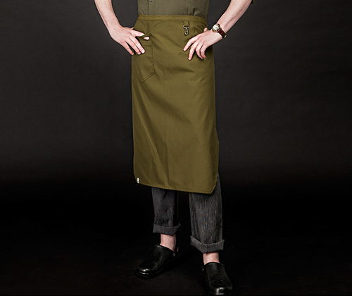 oxford for water-proof apron khaki #AA1652