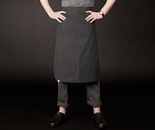 oxford for water-proof apron charcoal #AA1653