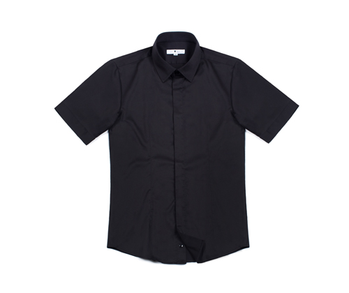 bros closing short sleeves shirt black  #AS1704