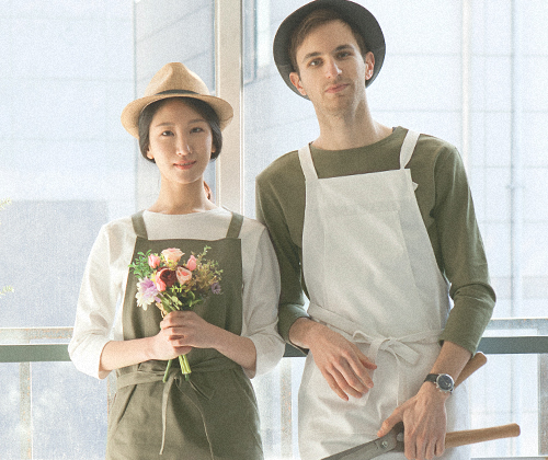 boat-neck washing cotton round tee khaki #AT1756