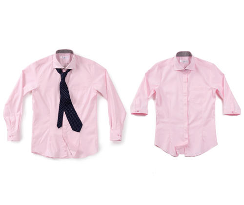 spring oxford wide pink shirts #AS1751