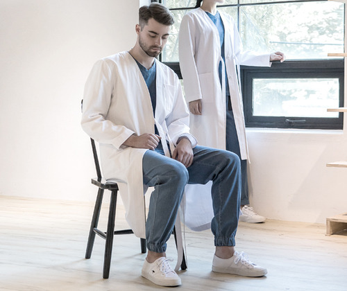 Le maison cotton lab coat #Aj1828