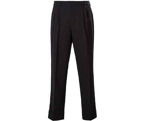 pleated carrot fit Banding chef Pants #AP1894