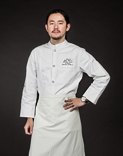 organic cotton single chef j.k (white) #AJ1458