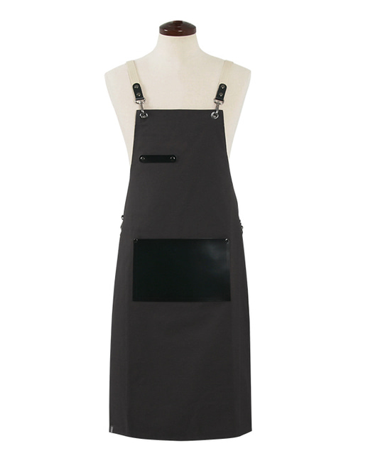 (AA1526) modern real cow leather apron