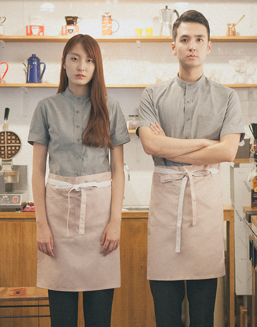 (AA1552) le coloration apron - pink