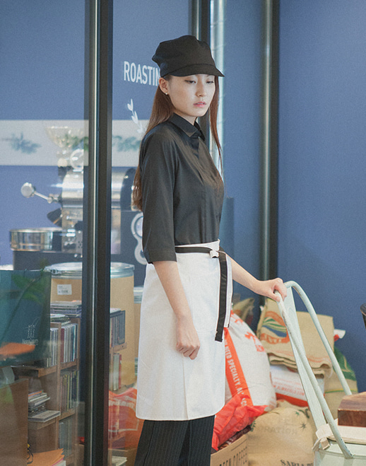 (AA1553) le coloration apron - white