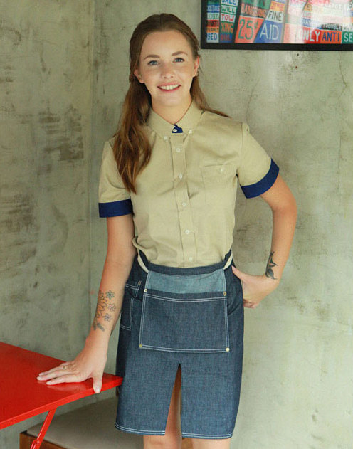 (AA1560) adams denim apron
