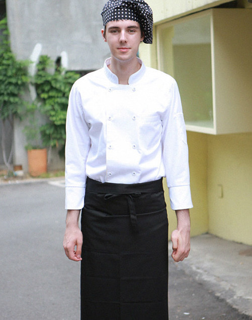 (AA1578) sicilia chef apron - black