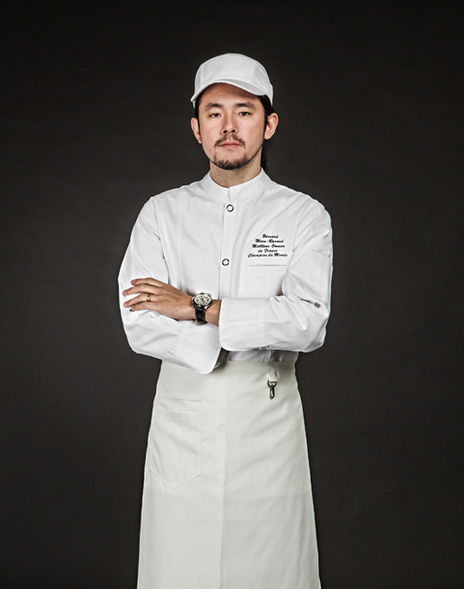 the side mesh chef hat white #AH1668