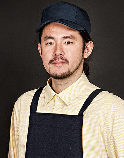 ths side mesh chef hat navy #AH1671