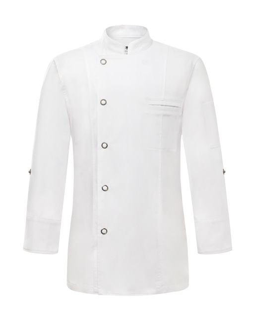 (AJ1717) british chef jacket - white