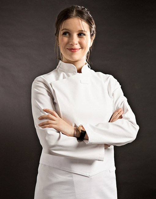 Slim Chef Jacket (White) Women #AJ1455