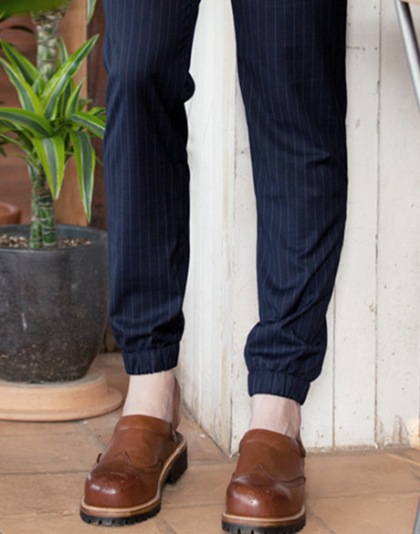 Joger stripe chef pants navy #AP1851 NY
