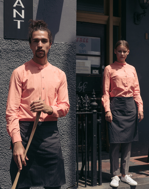 Side Long Grandad Shirt #AS1897 peach