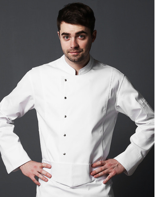 #AJ1821 LETTO classic fit chef coat