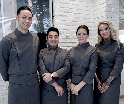 Special guest to A.mont's showroom – SKY Restaurant team,one of the 10 New restaurant selected by USD Today.