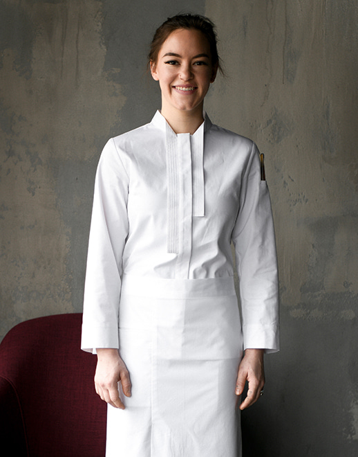 marane stretch women chef coat #AJ1954