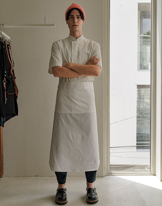 both sides custom chef apron #AA1955 white
