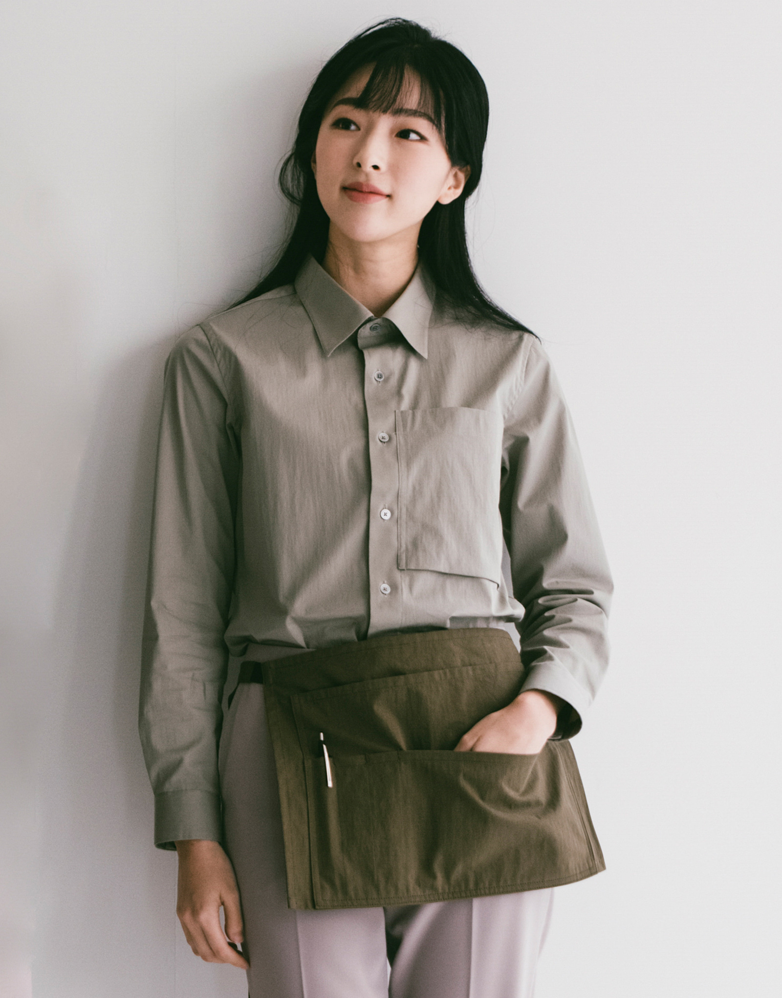 5 pocket washing pouch apron #AA1974 khaki