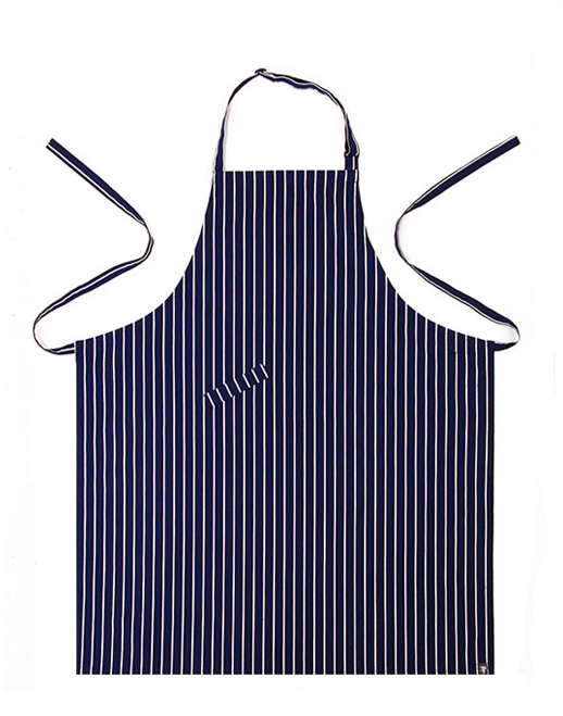 (AA1410) striped chest apron - navy