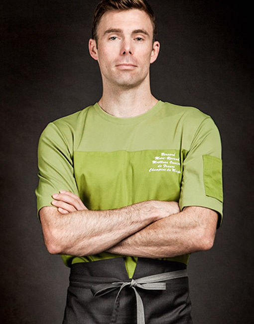 (AT1691) wind classic chef shirts - olive green