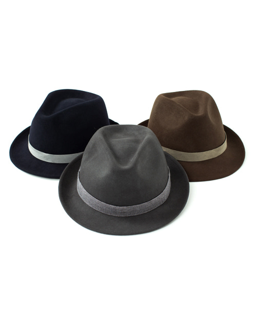 wool felt fedora 3color #AH1733