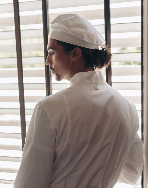Menage cotton chef beret #AH1870 white