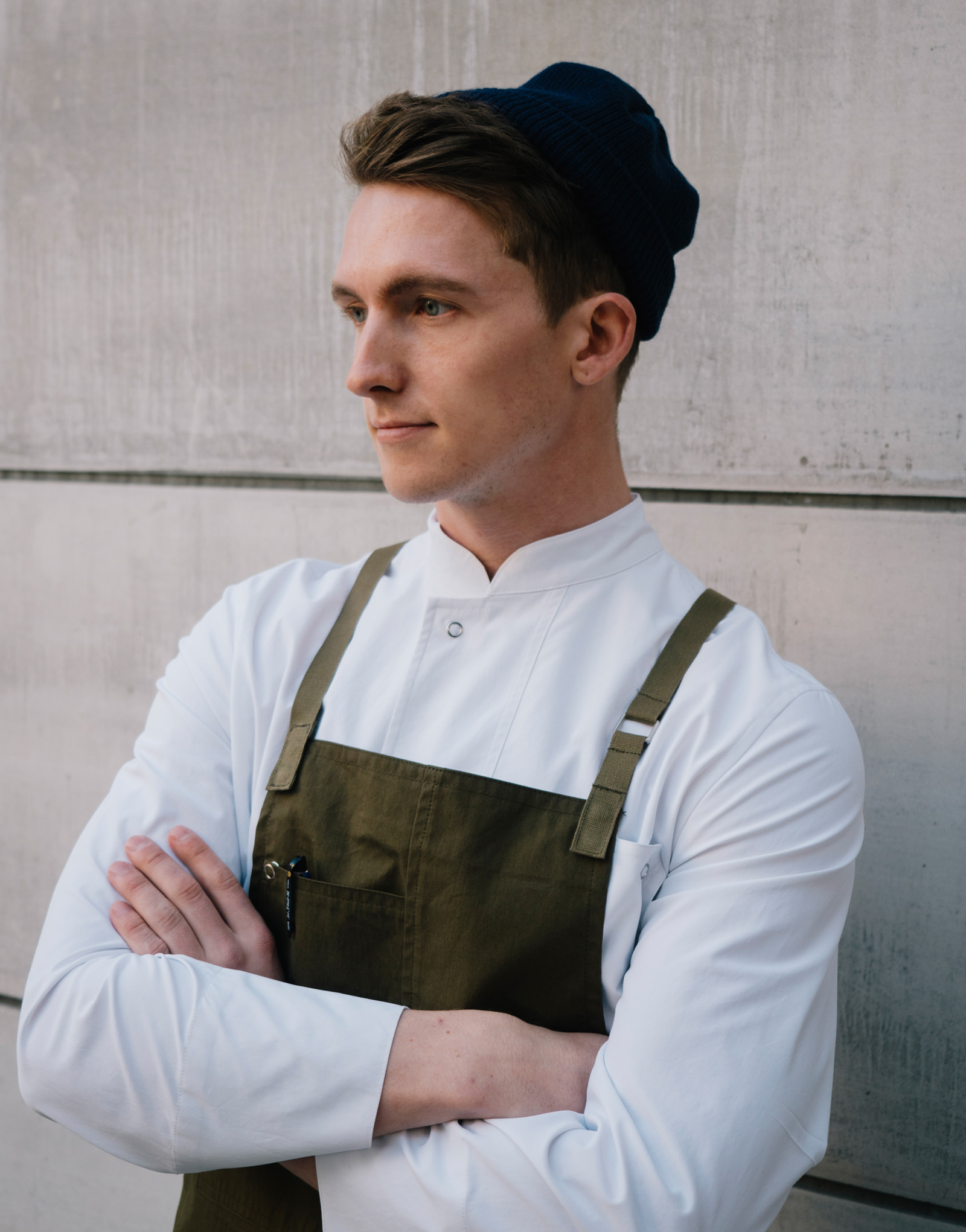 lamant stretch chef coat #AJ1955 white