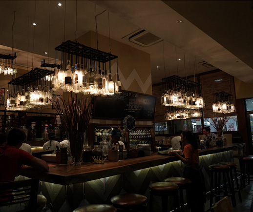 A trendy gastrobar with the western style on a Balinese style,Spice by Chris Salans.