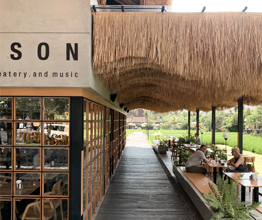 Pison Coffee in Bali with a vivid canvas of the exotic nature.