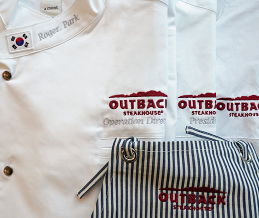 Outback Steakhouse,a No.1 brand that is even acknowledged in Korea.